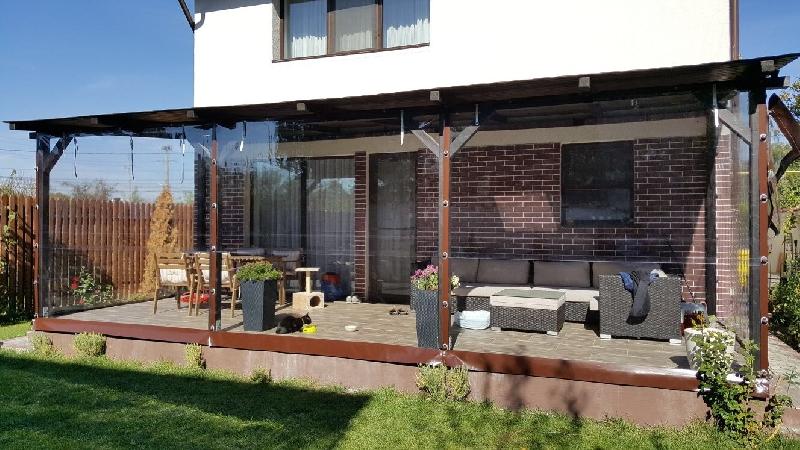 Inchidere terase cu material transparent