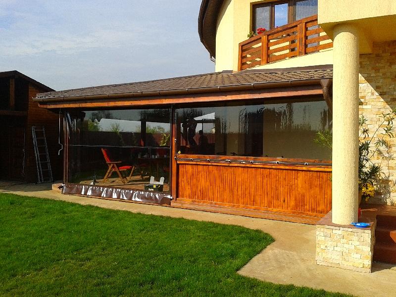 Inchideri terase cu folie PVC transparenta