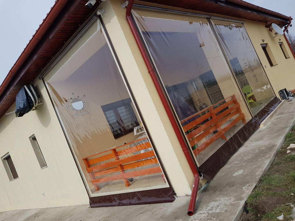 Rulou inchidere terasa cu prelata transparenta