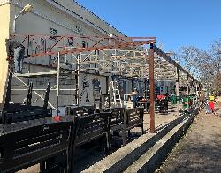 structura metalica terasa Club Quantic