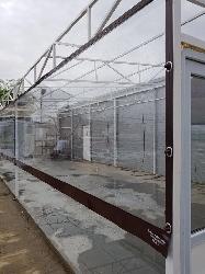 inchidere structura metalica cu folie transparenta