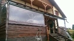 Inchideri terase cu rulouri transparente