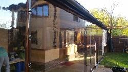 Inchidere terase cu capse si bride